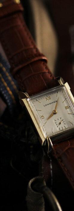 ロンジンの縦長かつ幅広のアンティーク腕時計 【1949年頃】-W1533-1