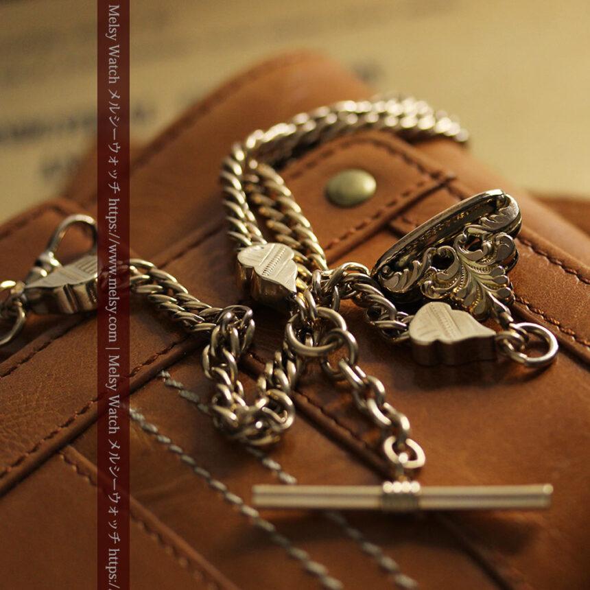 アンティーク懐中時計チェーン・鎖 【封蝋飾り付き】-C0496-1