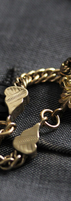 アンティーク懐中時計チェーン・鎖 【封蝋飾り付き】-C0496-10