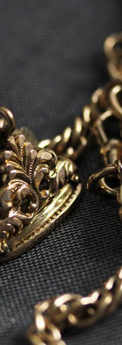 アンティーク懐中時計チェーン・鎖 【封蝋飾り付き】-C0496-11