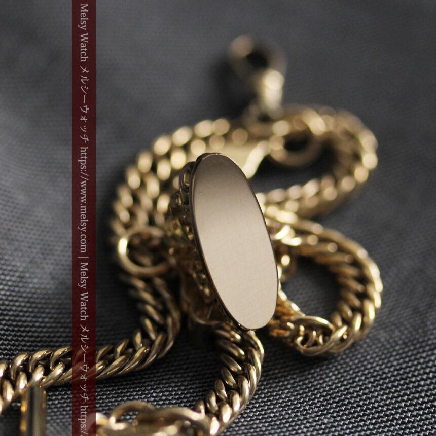 アンティーク懐中時計チェーン・鎖 【封蝋飾り付き】-C0496-12