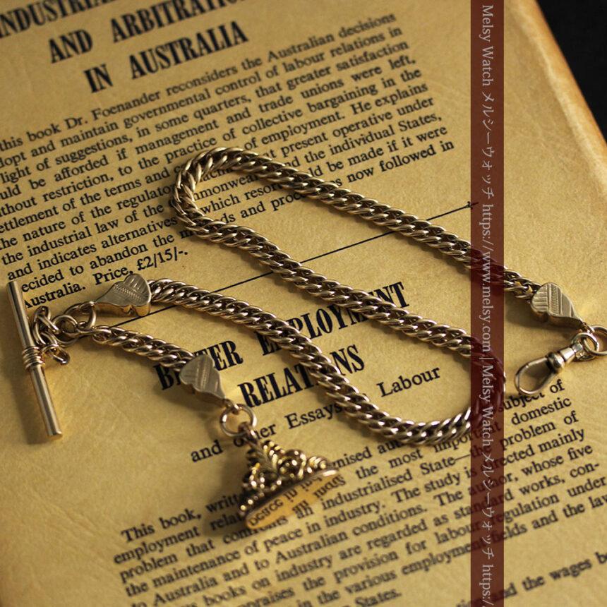 アンティーク懐中時計チェーン・鎖 【封蝋飾り付き】-C0496-13