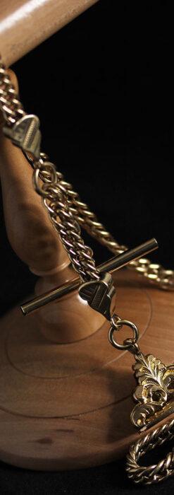 アンティーク懐中時計チェーン・鎖 【封蝋飾り付き】-C0496-14