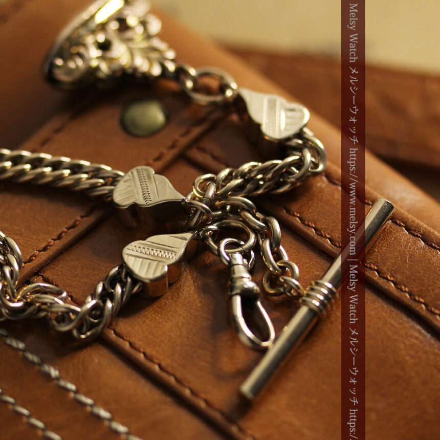 アンティーク懐中時計チェーン・鎖 【封蝋飾り付き】-C0496-2