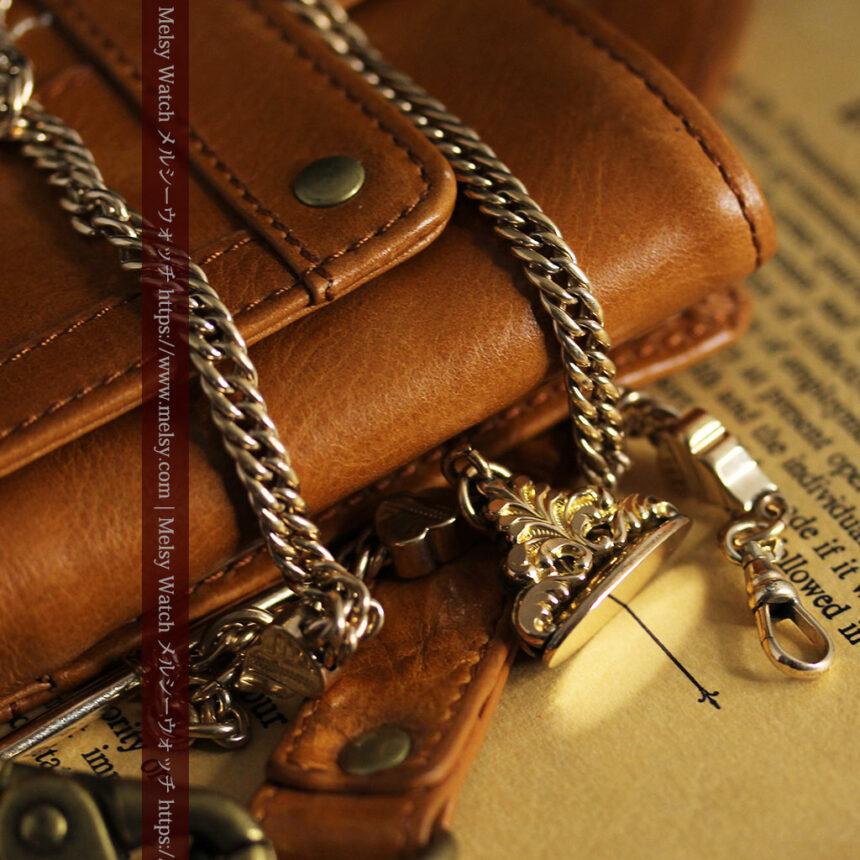 アンティーク懐中時計チェーン・鎖 【封蝋飾り付き】-C0496-3