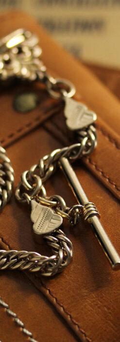 アンティーク懐中時計チェーン・鎖 【封蝋飾り付き】-C0496-4