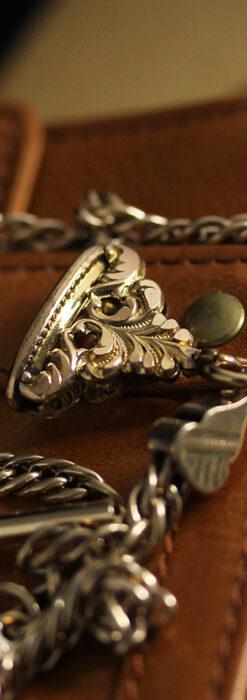 アンティーク懐中時計チェーン・鎖 【封蝋飾り付き】-C0496-5