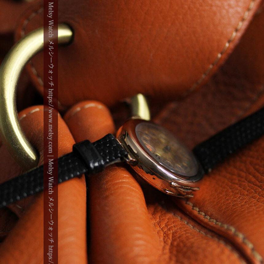 スイス製テレフォンダイアル金無垢アンティーク腕時計 【1910年頃】-W1174-14