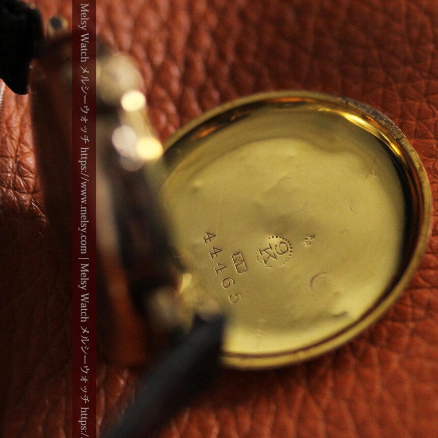 スイス製テレフォンダイアル金無垢アンティーク腕時計 【1910年頃】-W1174-16