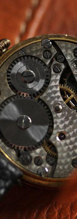 スイス製テレフォンダイアル金無垢アンティーク腕時計 【1910年頃】-W1174-17