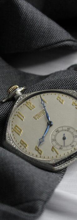 特殊な五角形 グリュエンのアンティーク懐中時計 【1930年頃】-P2307-1