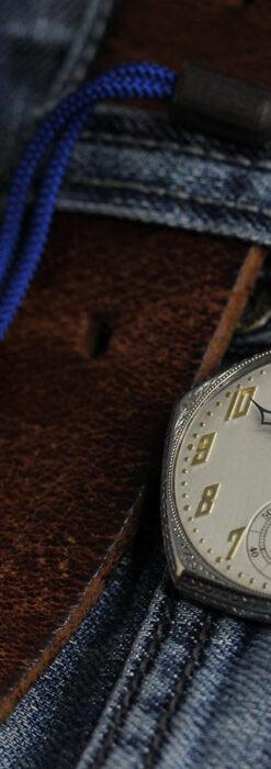 特殊な五角形 グリュエンのアンティーク懐中時計 【1930年頃】-P2307-10
