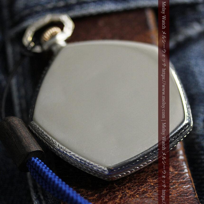 特殊な五角形 グリュエンのアンティーク懐中時計 【1930年頃】-P2307-17
