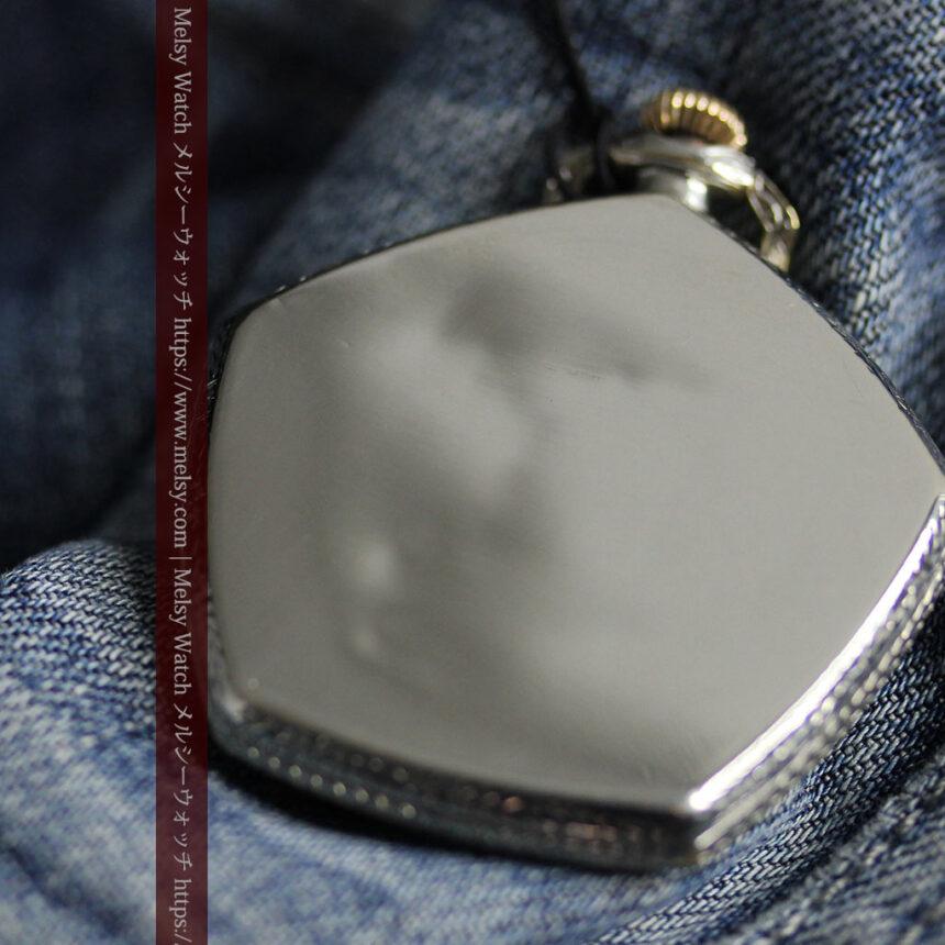 特殊な五角形 グリュエンのアンティーク懐中時計 【1930年頃】-P2307-21