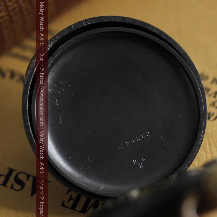 黒色に映える銀の紋章 オメガのアンティーク懐中時計 【1899年製】-P2308-22