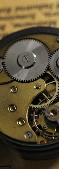 黒色に映える銀の紋章 オメガのアンティーク懐中時計 【1899年製】-P2308-23
