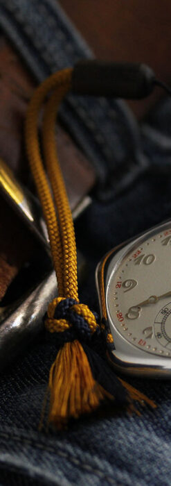 珍しく希少なオメガの五角形の銀無垢時計 【1904年製】-P2309-1