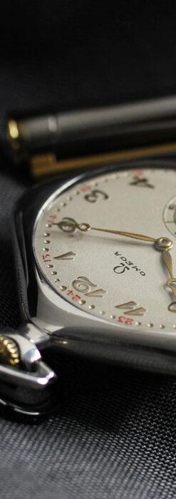 珍しく希少なオメガの五角形の銀無垢時計 【1904年製】-P2309-16