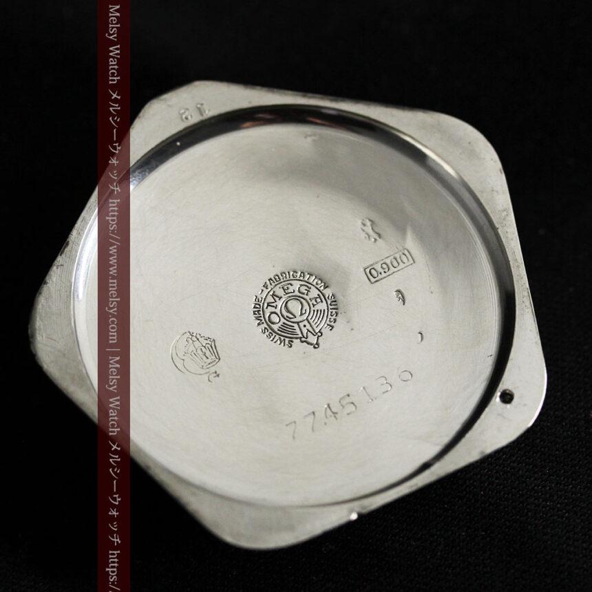 珍しく希少なオメガの五角形の銀無垢時計 【1904年製】-P2309-19