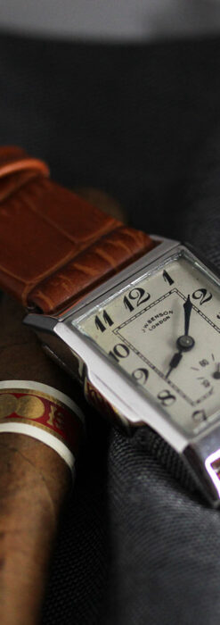 英国ベンソンの古風で愛らしいアンティーク腕時計 【1930年頃】-W1534-1