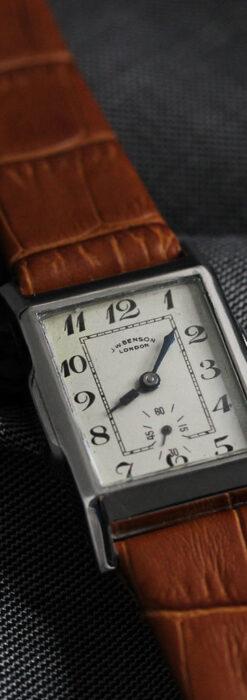 英国ベンソンの古風で愛らしいアンティーク腕時計 【1930年頃】-W1534-3