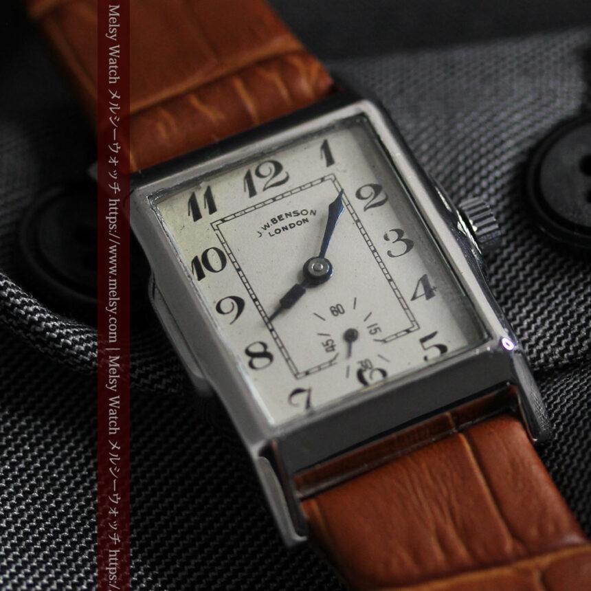 英国ベンソンの古風で愛らしいアンティーク腕時計 【1930年頃】-W1534-5