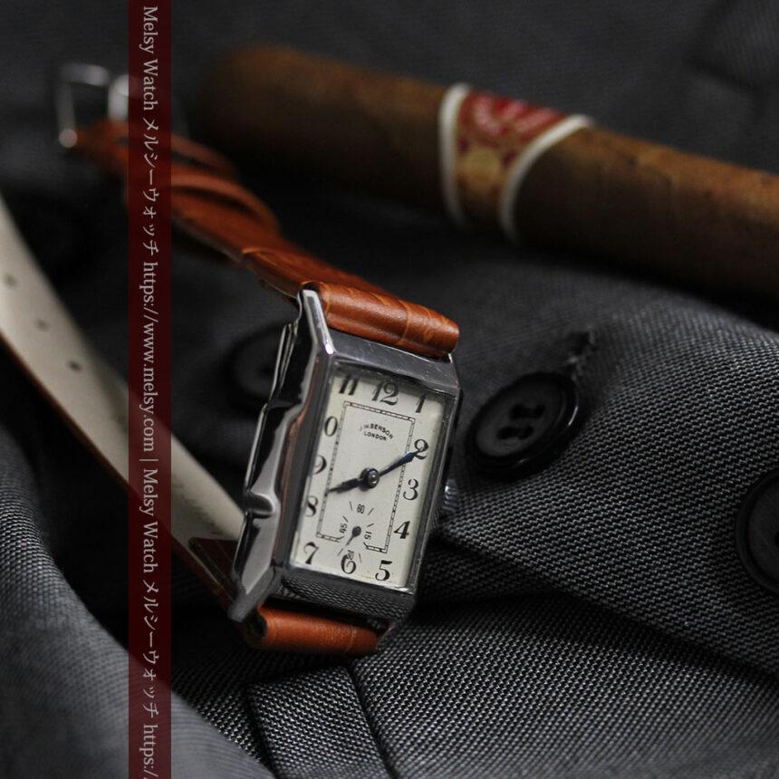 英国ベンソンの古風で愛らしいアンティーク腕時計 【1930年頃】-W1534-7