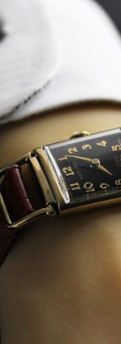 着け方を選んで楽しむ華麗なハミルトンのアンティーク腕時計 【1940年頃】-W1535-1