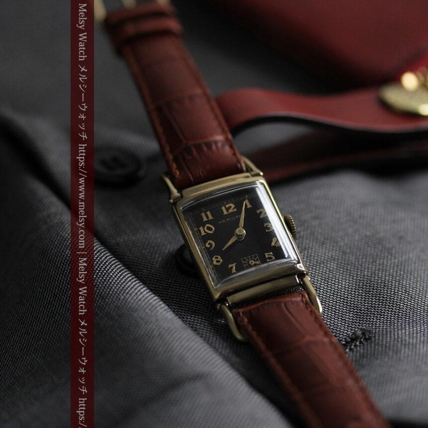 着け方を選んで楽しむ華麗なハミルトンのアンティーク腕時計 【1940年頃】-W1535-12