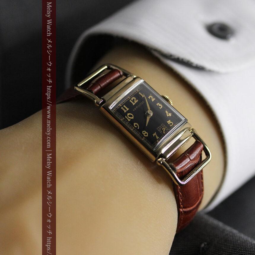 着け方を選んで楽しむ華麗なハミルトンのアンティーク腕時計 【1940年頃】-W1535-2