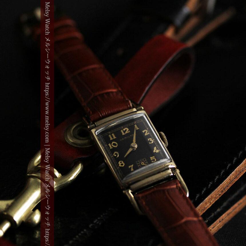 着け方を選んで楽しむ華麗なハミルトンのアンティーク腕時計 【1940年頃】-W1535-6