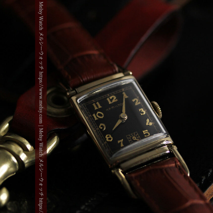 着け方を選んで楽しむ華麗なハミルトンのアンティーク腕時計 【1940年頃】-W1535-7