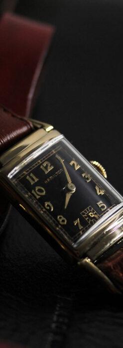 着け方を選んで楽しむ華麗なハミルトンのアンティーク腕時計 【1940年頃】-W1535-8