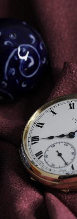 英国ベンソンの風格溢れる金無垢アンティーク懐中時計 【1931年頃】箱付き-P2310-10
