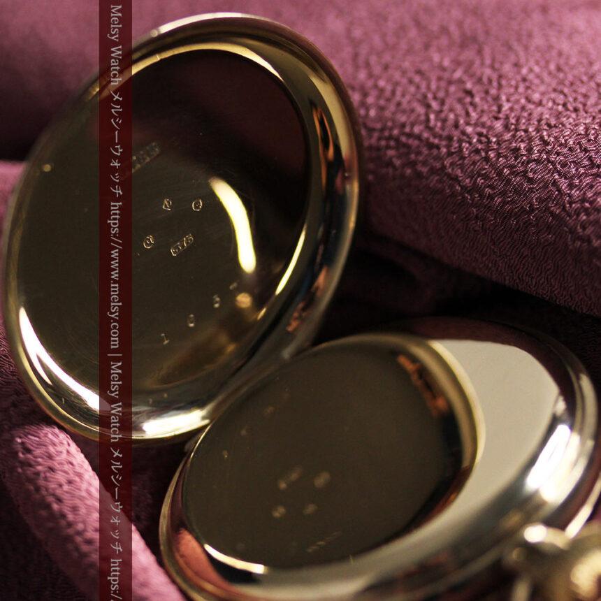英国ベンソンの風格溢れる金無垢アンティーク懐中時計 【1931年頃】箱付き-P2310-18