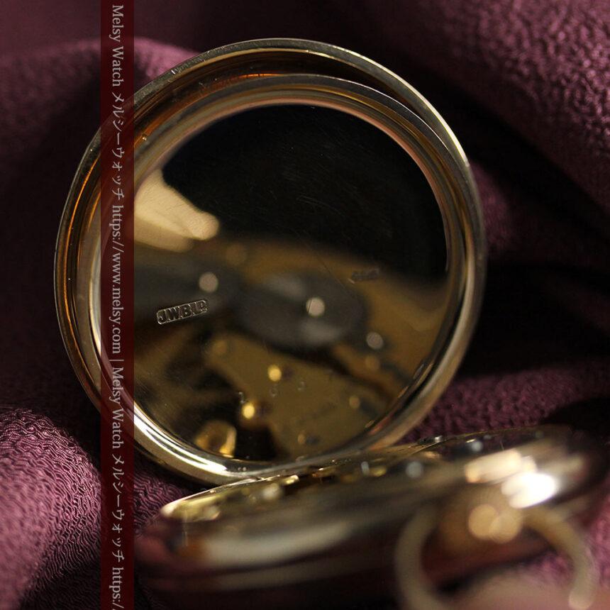 英国ベンソンの風格溢れる金無垢アンティーク懐中時計 【1931年頃】箱付き-P2310-19