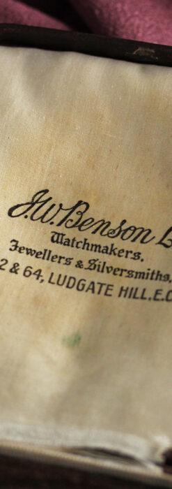 英国ベンソンの風格溢れる金無垢アンティーク懐中時計 【1931年頃】箱付き-P2310-22