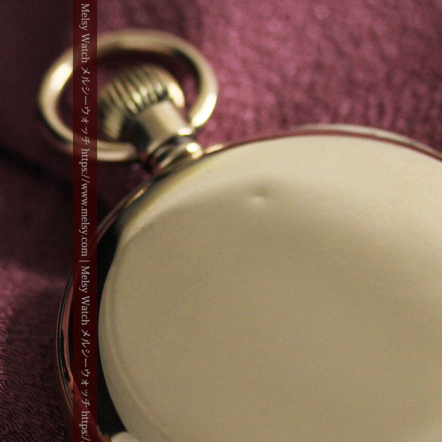 英国ベンソンの風格溢れる金無垢アンティーク懐中時計 【1931年頃】箱付き-P2310-25