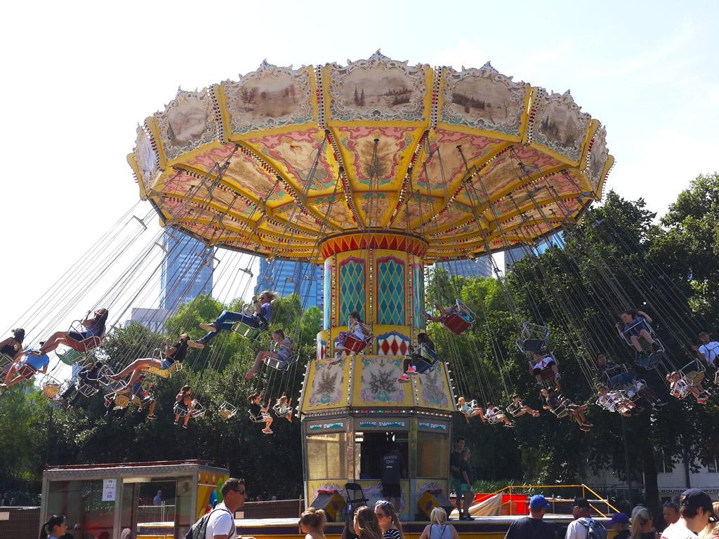 ムンバフェスティバルの遊園地