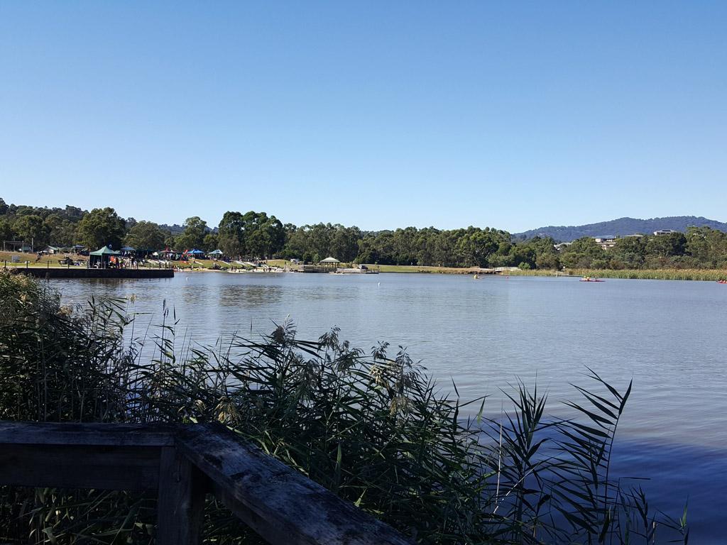 リリデールレイク湖面