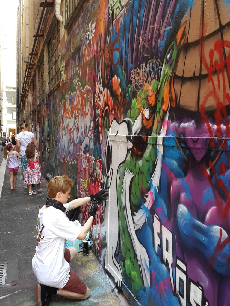 メルボルン市街地のストリートアート