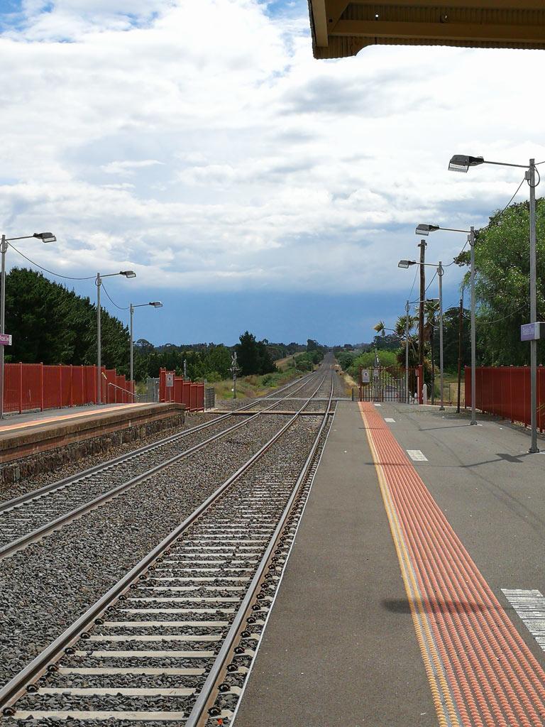 Riddells Creek駅から望む