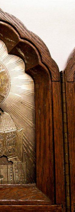 キリストと二聖人の三連祭壇画銀板イコン-A0126-2