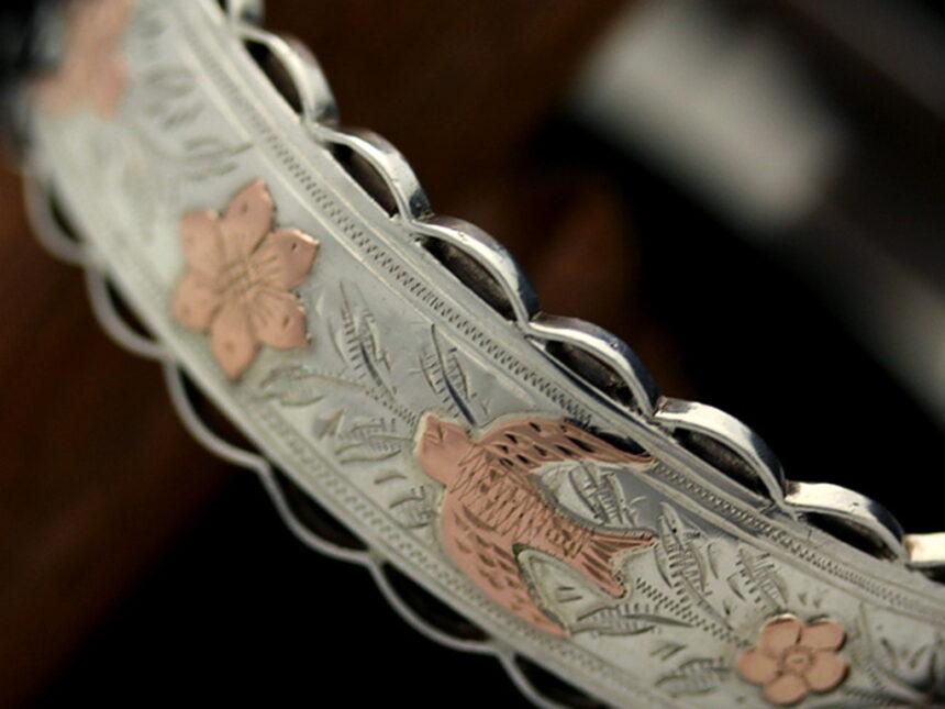 銀無垢バングル・ブレスレット-A0170-13