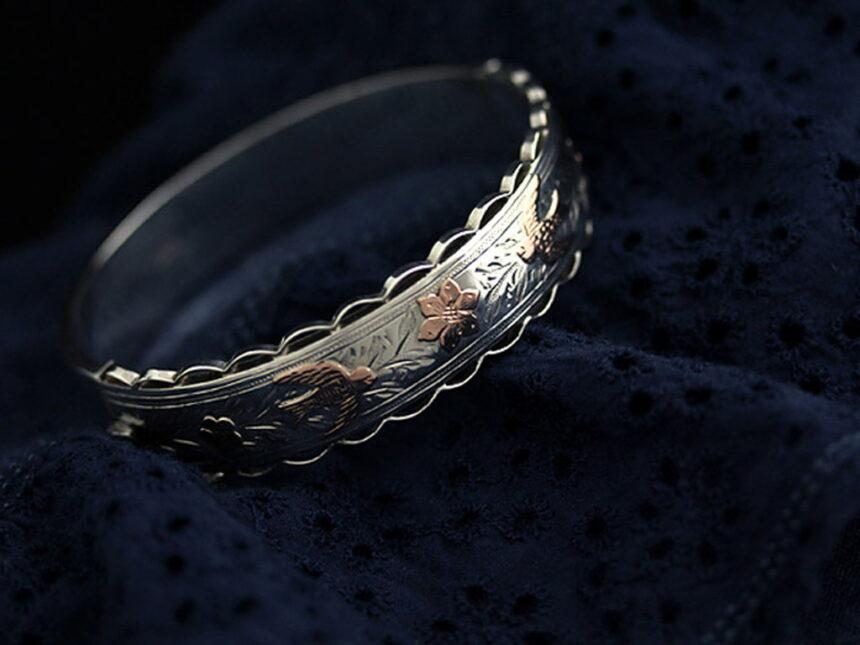 銀無垢バングル・ブレスレット-A0170-2