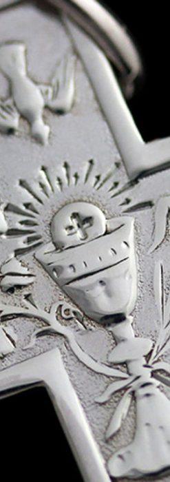 アンティーク銀無垢クロス-A0186-1