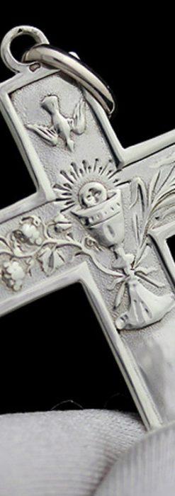アンティーク銀無垢クロス-A0186-2