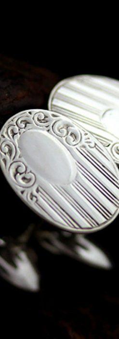 銀無垢カフスボタン-A0188-1