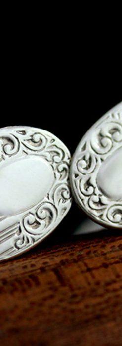 銀無垢カフスボタン-A0188-2