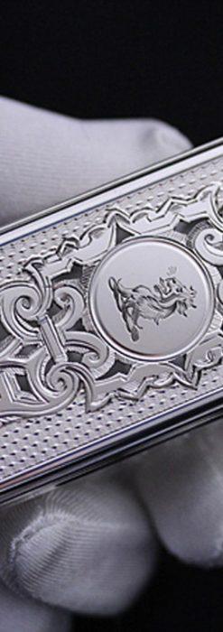 銀とガラスの小物入れ-A0197-1